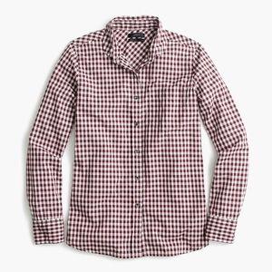 J. Crew Club Collar Boy Shirt  in Gingham Sz 6